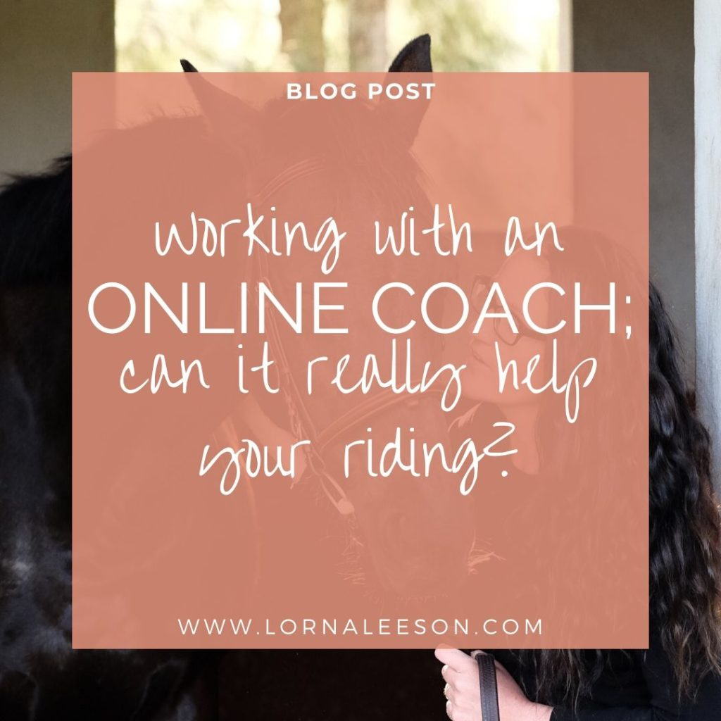 Working with an Online Equestrian Coach; can it really help your riding?